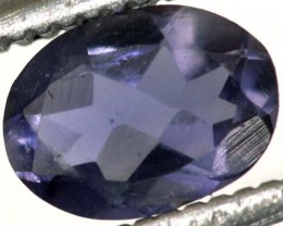 0.50CTS IOLITE FACETED VIOLET BLUE  RNG-420