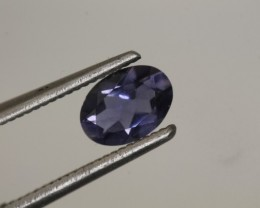 0.55CTS TANZANITE FACETED VIOLET BLUE  RNG-430
