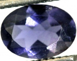 0.60CTS IOLITE  FACETED VIOLET BLUE  RNG-432