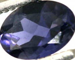 0.60CTS TANZANITE FACETED VIOLET BLUE  RNG-435