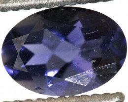 0.70CTS TANZANITE FACETED VIOLET BLUE  RNG-439