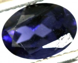 0.70CTS TANZANITE FACETED VIOLET BLUE  RNG-440