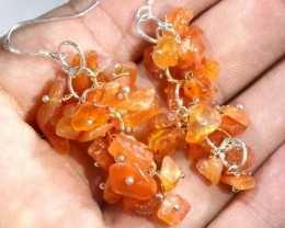 54.75CTS CARNELIAN EARRINGS ORANGE UNTREATED SG-2334