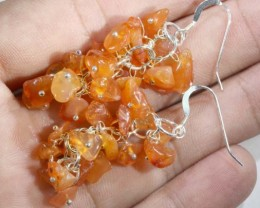 51.65CTS CARNELIAN  EARRINGS ORANGE UNTREATED SG-2339