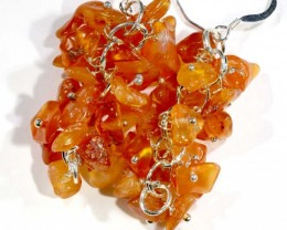 51.65CTS CARNELIAN EARRINGS ORANGE UNTREATED SG-2340