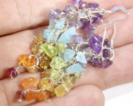 48 CTS MIXED GEMSTONE EARRINGS SG-2349