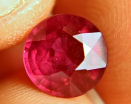 3.90 Carat Fiery, Vibrant Round Ruby - Beautiful