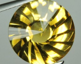 5.20 CTS AWESOME YELLOW GOLD CITRINE FANCY CUTTING ROUND