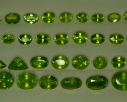 166 ct 34 Pcs Natural Green Peridot Lot