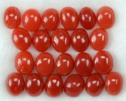 UNHEATED 5.00 Cts Natural Italian Red Coral (4x3 mm) 22 Pcs Parcel