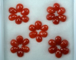 UNHEATED 5.07 Cts Natural Italian Red Coral (4x3 mm) 30 Pcs Parcel