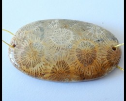 83Ct Natural Fossil Coral Pendant Bead