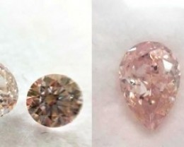 GIA 2.65cttw Deal Pear,Round,Heart  Natural Fancy Orangey Pink Loose Diamon