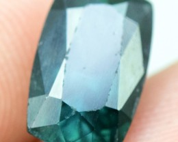2.85 Cts Cushion Fancy Cut Natural Indicolite Tourmaline from Afghanistan (
