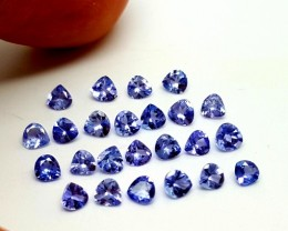 2.10Cts Tanzanite Heart Faceted Calibrated Gemstones
