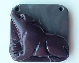 109.50ct Lovely Puppy Dog carved in Jasper -