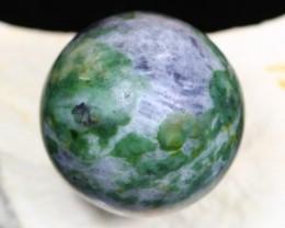 367Ct Mixed Lavender Green Burmese Jadeite Jade Sphere Ball