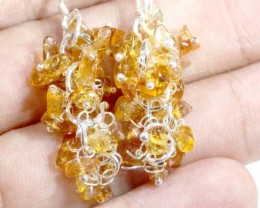 25.70 CTS CITRINE EARRINGS GRAPE DESIGN SG-2355