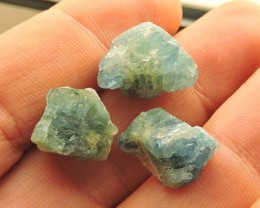 37.00ct BERYL AQUAMARINE SPECIMENS DEEP BLUE FROM SANTA MARIA BRAZIL