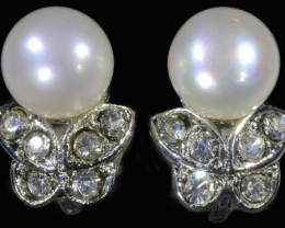 French clip Natural Pearl Earrings PPP1228