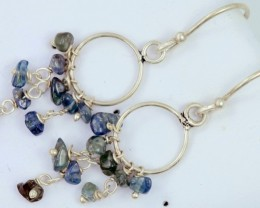 AUSTRALIAN ROUGH SAPPHIRE EARRINGS PPP 1012