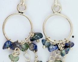 AUSTRALIAN ROUGH SAPPHIRE EARRINGS PPP 1014