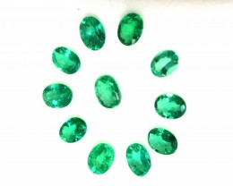 Natural Emerald Lot 1.67 Cts - Size 3X4 Oval