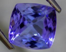 2.09cts Violet Blue Princess Cut Tanzanite
