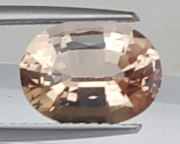 2.47cts piniish Peach Morgonite, VVS1 Eye Clean,  Lots of Luster
