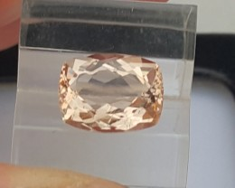 3.02cts Certified Peach Morgonite, Eye Clean,  Lots of Luster