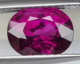 "2.58cts Grape Purple ""Color Shift"" Rhodolite Garnet of Mozambique"