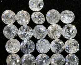 0.738  cts Parcel white  3 mm diamonds op1401a