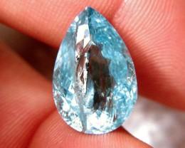 12.21 Carat Medium Blue I2 Aquamarine - Gorgeous