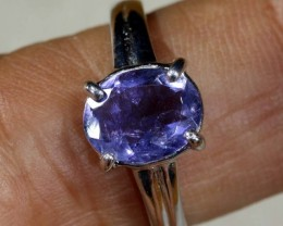 14.05 CTS  TANZANITE 18K WHITE GOLD RING SG-2379