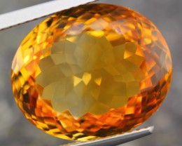 14.15ct NATURAL YELLOW CITRINE FULL SPARKLING OVAL CUT GEMSTONE
