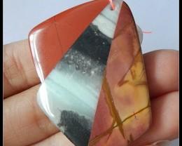 Picasso Jasper,Amazonite,Amazonite Intarsia Pendant Bead,67Ct(B1804307)