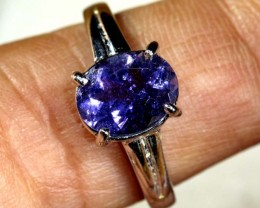 13.6 CTS  TANZANITE 18K WHITE GOLD RING SG-2381