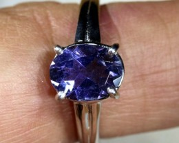 13.5 CTS  TANZANITE 18K WHITE GOLD RING SG-2384