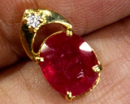 4.5 CTS 18K GOLD RUBY PENDANT  SG-2396