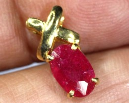 5.45 CTS 18K GOLD RUBY PENDANT SG-2398