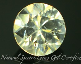GiL Certified 1.34 ct Natural White Zircon Combodia Lot No: S.2
