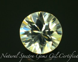 GiL Certified 1.53 ct Natural White Zircon Combodia Lot No: S.2