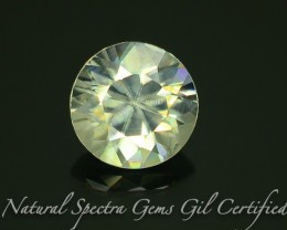 GiL Certified 1.59 ct Natural White Zircon Combodia Lot No: S.2