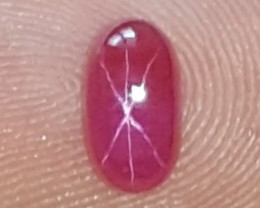 Star Ruby, No Heat / No Treatments, Certified,  Perfect Smooth Red Color,