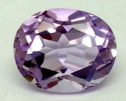 4CT AMETHYST PURPLE OVAL FACETED GEMSTONE