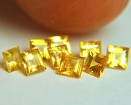 1.57 Tcw. Yellow Sapphire VS - VS/SI Accents 3mm / 9pcs.