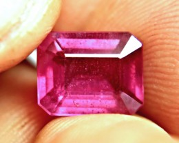 5.50 Carat Vibrant, Fiery Purplish Red Ruby - Gorgeous