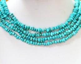 350 Cts FOUR strand Turquoise 40 cm length GOGO 1245