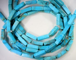 105 Cts  Three strand Turquoise 40 cm length GOGO 1246
