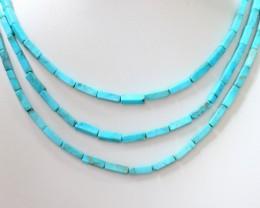 105 Cts  Three strand Turquoise 40 cm length GOGO 1247